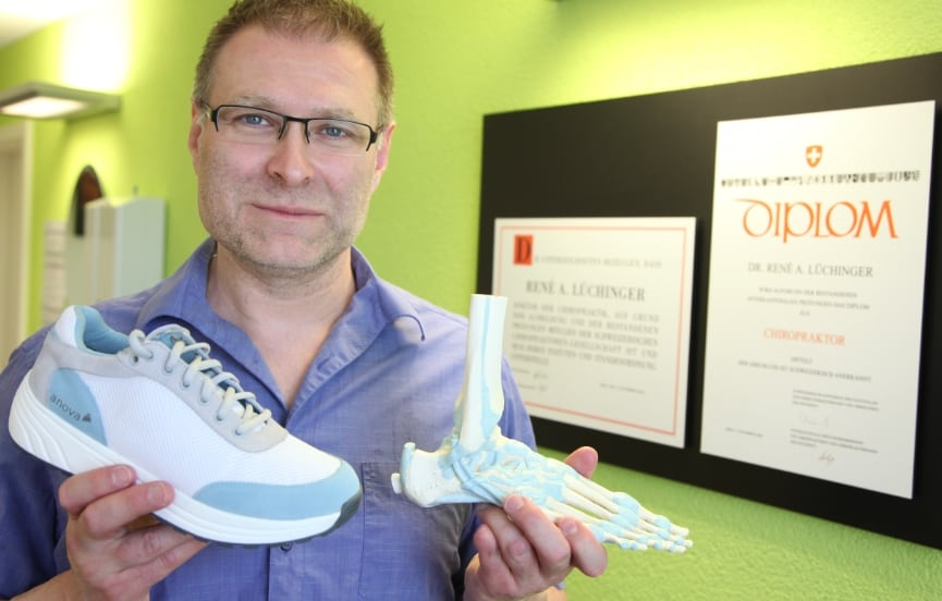 Chiropraktor Dr. René Lüchinger empfiehlt Anova Schuhe