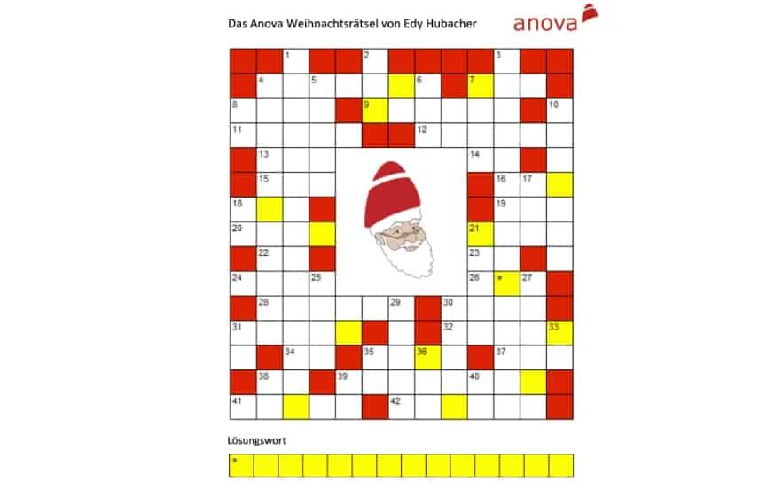Weihnachtsrätsel Anova