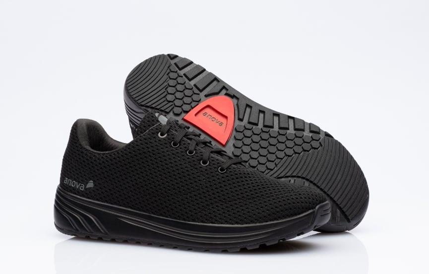 Schuh gesund Damen und Herren Anova Andrea Black