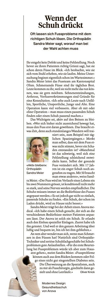 Dr. Sandra Meier Olten Anova Sonntagszeitung
